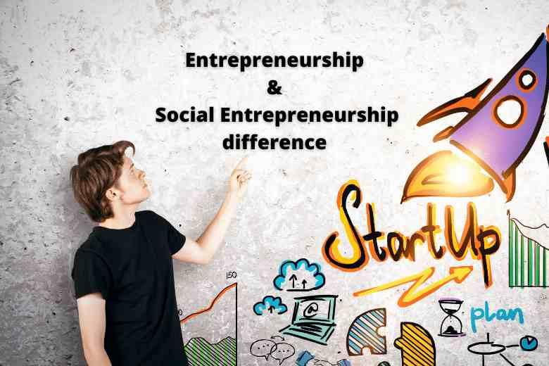 Entrepreneurship and Social Entrepreneurship difference in Hindi